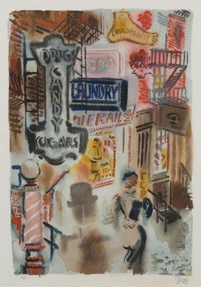George Grosz, 'Bagdad-on-the-Subway', 1935