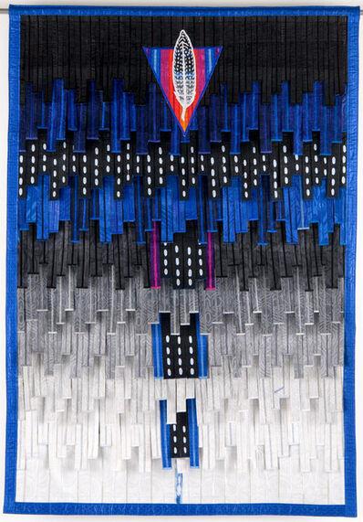 Abdoulaye Konaté, 'Le triangle et la plume', 2020