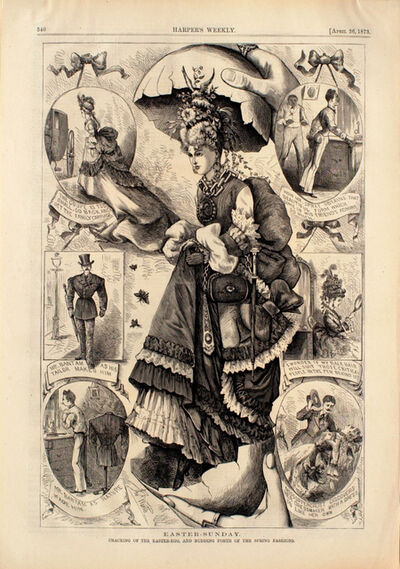 Thomas Worth, 'Easter-Sunday: Cracking of the Easter Egg, and, Budding Forth of the Spring Fashions', 1873