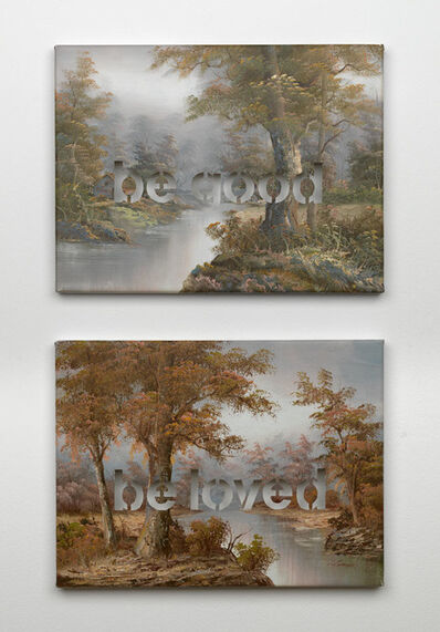 Amikam Toren, 'Armchair Painting - Untitled (be good), (be loved)', 2007