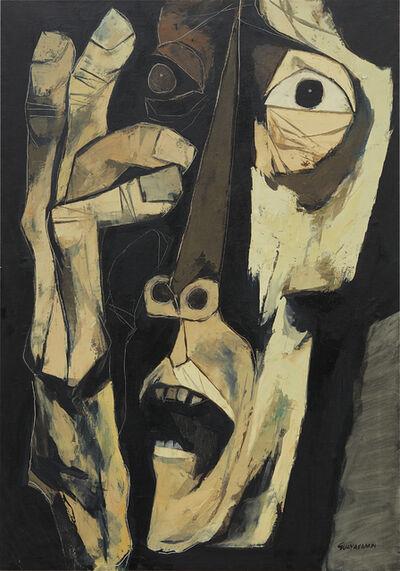 Oswaldo Guayasamín, 'Cabeza y mano', 1973