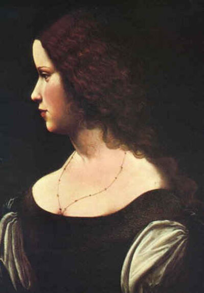 Leonardo da Vinci, 'Portrait of a Lady', ca. 1500