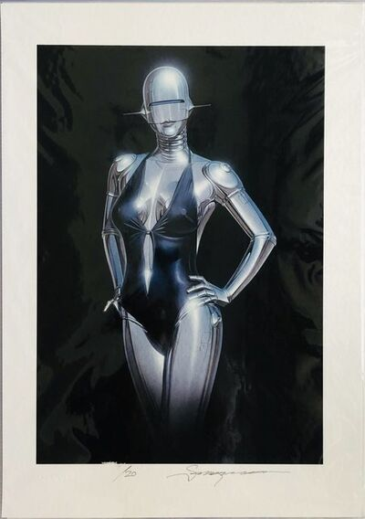 Hajime Sorayama, 'BLACK BACKGROUND', 2019
