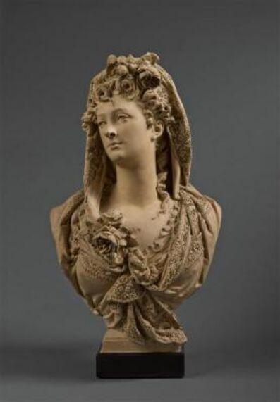 Albert-Ernest Carrier-Belleuse, 'Marguerite Bellanger, buste de fantaisie (Marguerite Bellanger, Fantasy Bust)', about 1868
