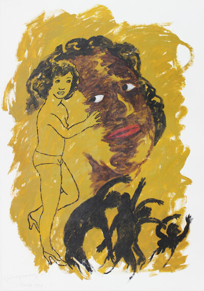 Robert Colescott, 'Where is my runaway girl?', 1989