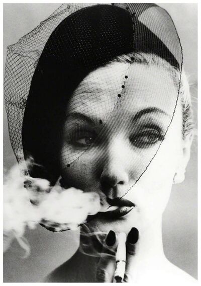 William Klein, 'SMOKE AND VEIL, PARIS, VOGUE', 1958