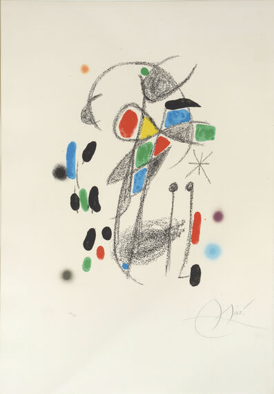 Joan Miró, 'Maravillas. No 18.  Marvels with Acrostic Variations from Miró's Garden', 1975