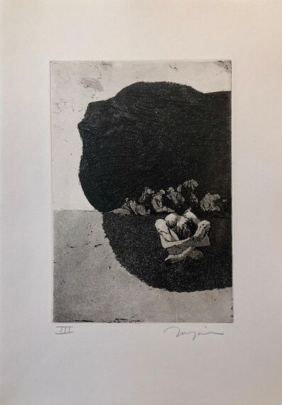 Jack Zajac, 'Surrealist Figurative Aquatint Etching California Modernist Sculptor Artist', 1960-1969