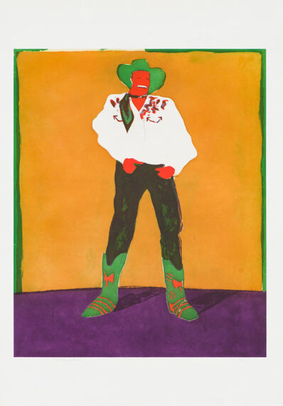 Fritz Scholder, 'Hollywood Cowboy in Roma', 1978
