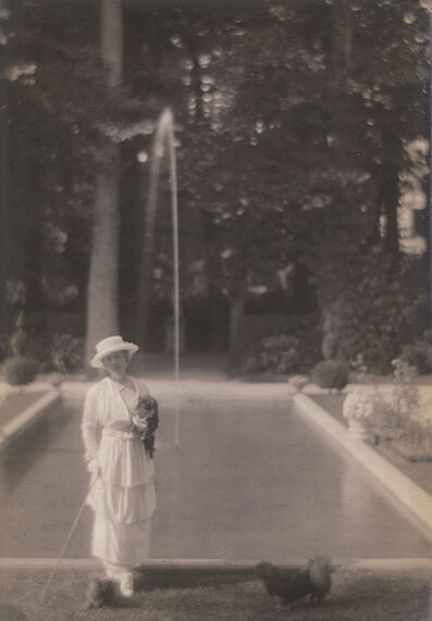 Adolf de Meyer, 'Woman with Dog at Villa Trianon, Versailles', 1913/1913