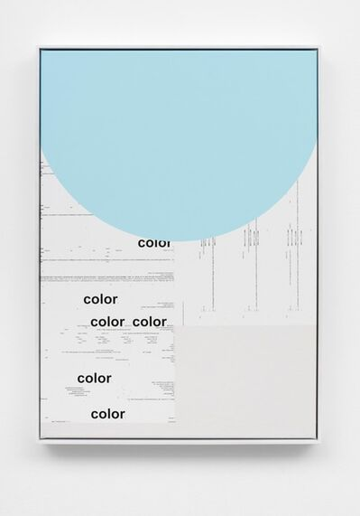 Michael Riedel, 'Untitled (color; light blue)', 2016