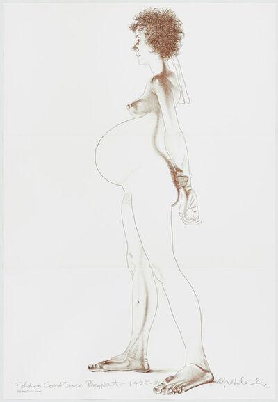 Alfred Leslie, 'Folded Constance Pregnant', 1986