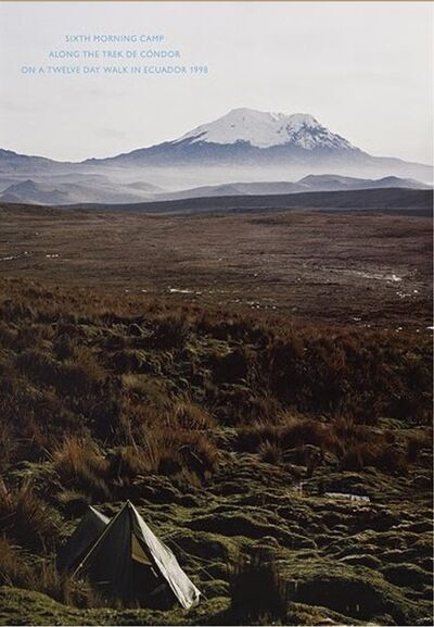 Richard Long, 'Sixth morning camp along the trek de condor on a twelve day walk in Ecuador', 1998