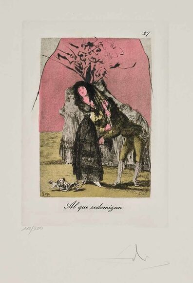 Salvador Dalí, 'Al que sodomizan (Les Caprices de Goya de Dalí, #27)', 1977