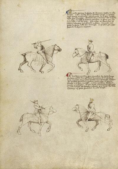 Fiore Furlan dei Liberi da Premariacco, 'Equestrian Combat with Sword', 1410