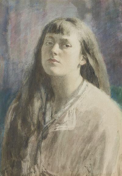 Gerald Leslie Brockhurst, 'Anaïs with Hair Down', ca. 1920s