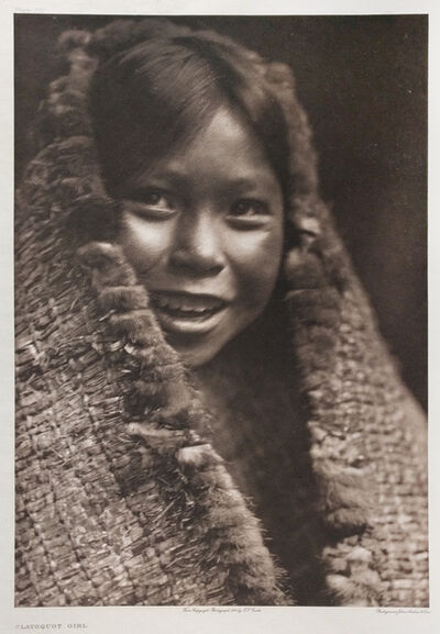 Edward Sheriff Curtis, 'Clayoquot Girl', Neg. date: 1915 c.