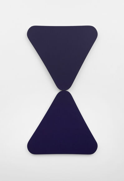 Leon Polk Smith, '2 Blue Triangles', 1967