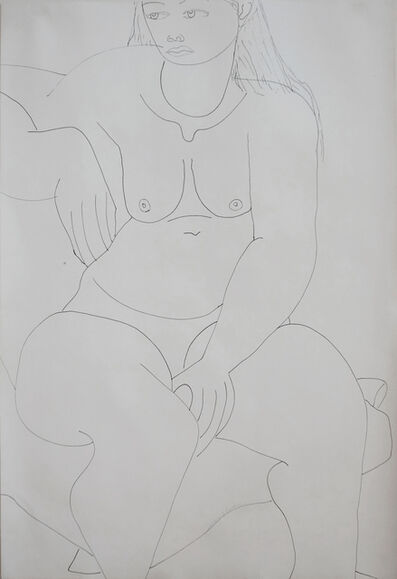 Louise Nevelson, 'Sitting Female Nude', ca. 1940