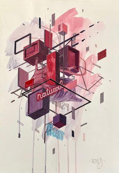 Etnik, 'Floating cubes 4', 2017