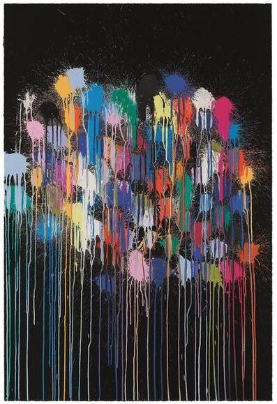Ian Davenport, 'Colour Splat Cloud (black)', 2017