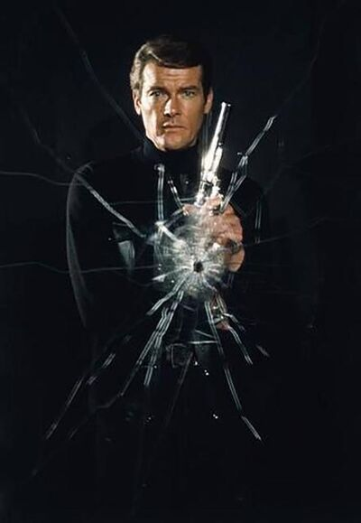 Terry O'Neill, 'Roger Moore Bullet Hole'