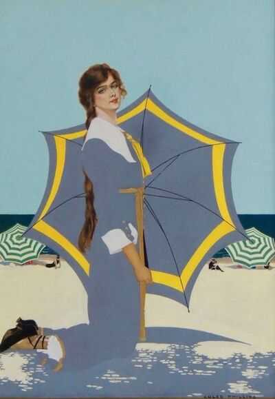 Clarence Coles Phillips, 'Fadeaway Girl, Good Housekeeping Cover', 1915