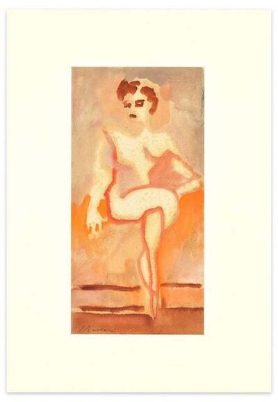 Mino Maccari, 'Sitting Sensual Woman', 1957