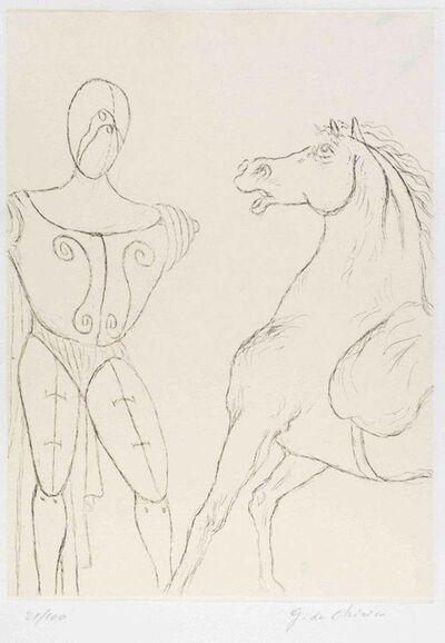Giorgio de Chirico, 'Cavallo e Trovatore', 1969