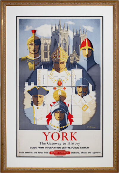 E.H. Spencer, 'York (British Railways) The Gateway to History Guide From Info. Center, Public Library', ca. 1940