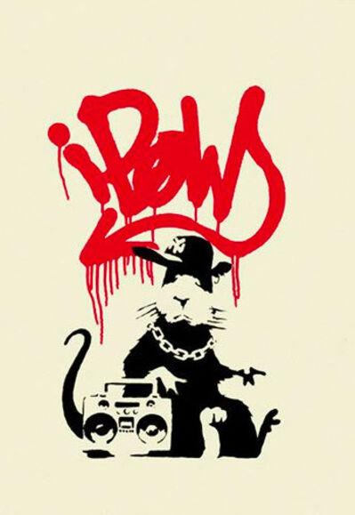 Banksy, 'Gangsta Rat (Red)', 2014