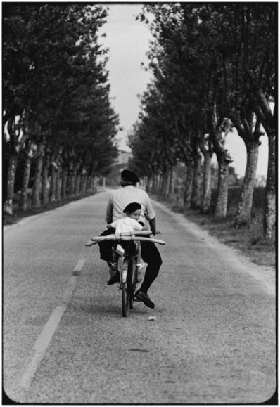 Elliott Erwitt, '8. FRANCE. Provence. (Boy, bicycle & baguette)', 1955