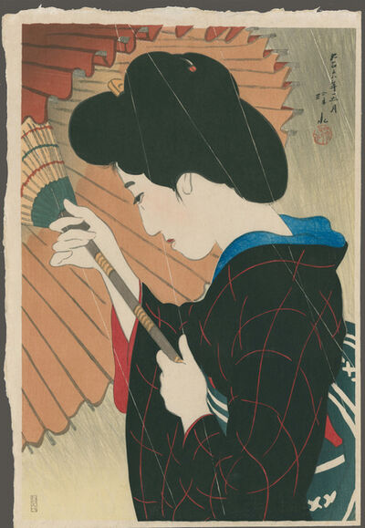 Itō Shinsui, 'A Passing Rain or Rain Shower in the Sun', 1917