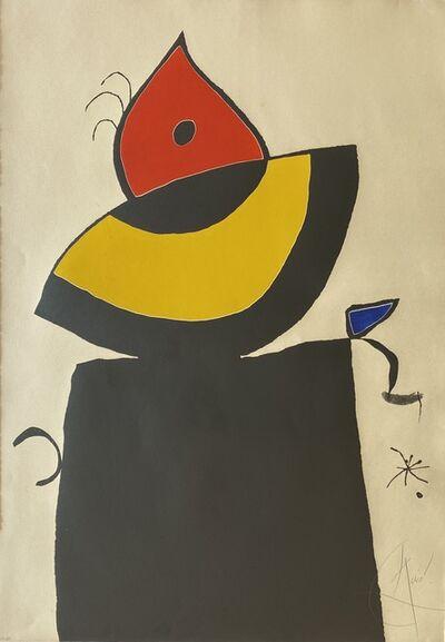 Joan Miró, 'Quatre Colors Aparien El Mon V (Four Colors will Beat the World V)', 1975
