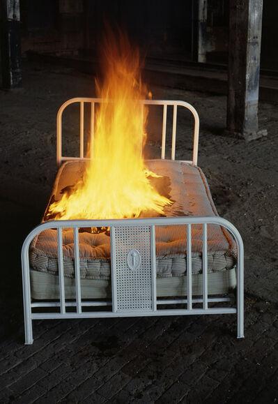 Meridel Rubenstein, 'Bed on Fire', 1987