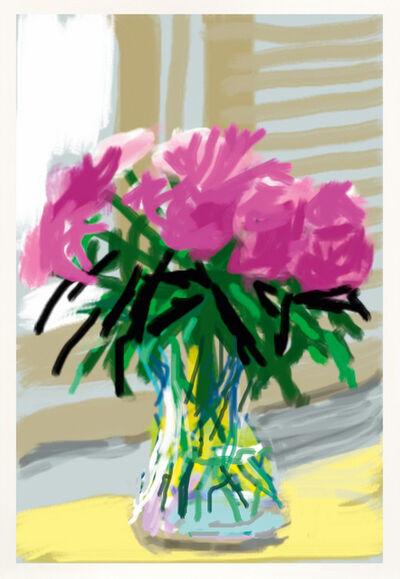 David Hockney, 'Peonies iPhone Drawing', 2009