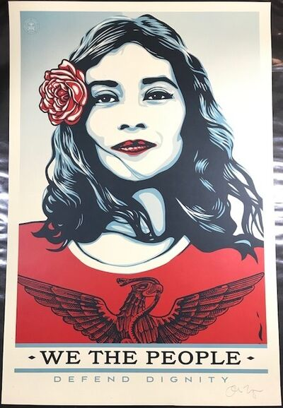 """Shepard Fairey (OBEY), '""""We The People""""  Defend Dignity ', 2017"""