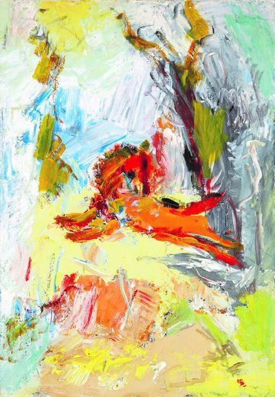 Boris Chetkov, 'Red Horse in Flight', 1970