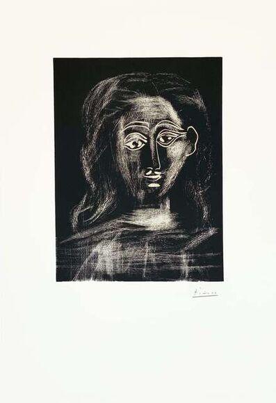 Pablo Picasso, 'Jacqueline aux chevaux flous, en buste', 1962