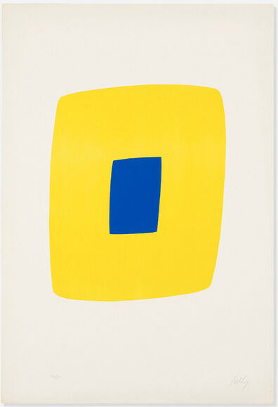 Ellsworth Kelly, 'Yellow with Dark Blue'