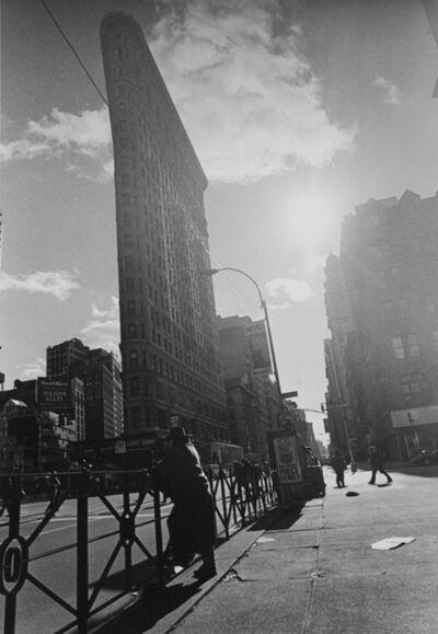 George Zimbel, 'Man and the Flatiron Building NYC', 2001