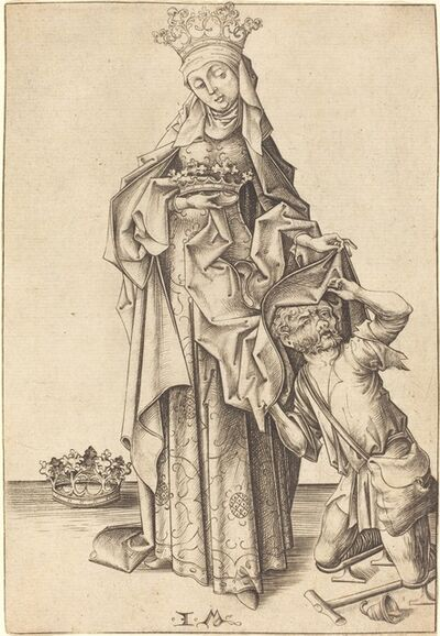 Israhel van Meckenem, 'Saint Elizabeth of Thuringia', ca. 1475/1480