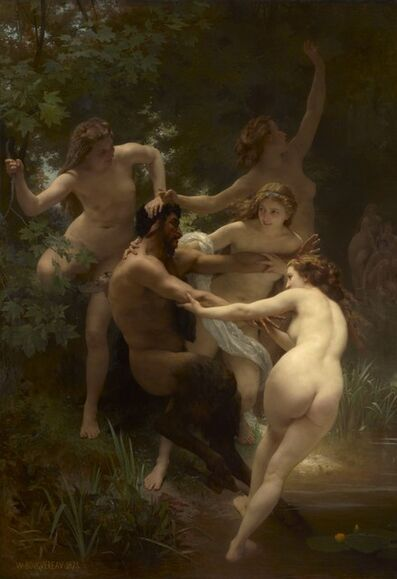 William-Adolphe Bouguereau, 'Nymphs and Satyr', 1873