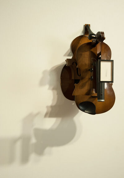Tom Marioni, 'Deconstructed Violin with Drawing', 2013