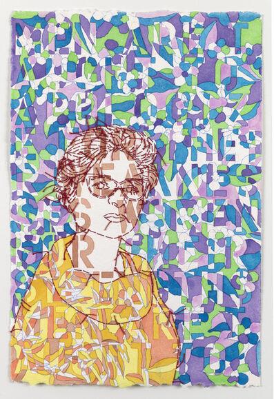 Ghada Amer, 'Portrait of Noha - RFGA', 2020