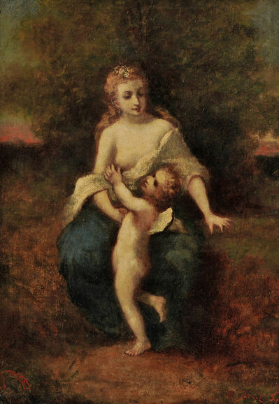 Narcisse-Virgile Diaz de la Peña, 'Mother and Child (possibly Venus et l'Amour)'