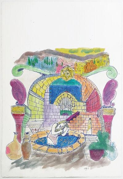 Amram Ebgi, 'WOMAN IN POOL (JUDAICA ART)', ca. 1990