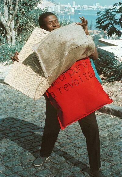 Hélio Oiticica, 'P15 Parangolé Cape 11, I Embody Revolt (P15 Parangolé Capa 12, Eu Incorporo a Revolta) worn by Nildo of Mangueira', 1967
