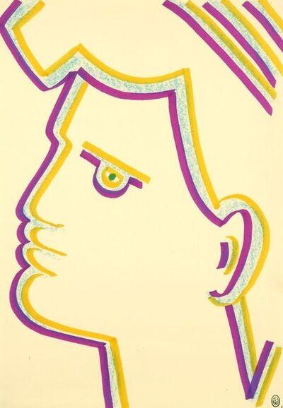 Jean Cocteau, 'Profil de Marianne.', 1960