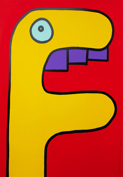 Thierry Noir, 'Yellow Crocodile', 2014